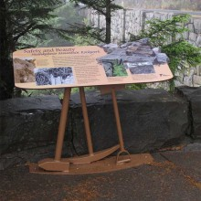 Neahkahnie Rock Wall Exterior Exhibit